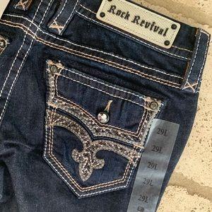 NWT Rock Revival Adorna Boot Cut Jeans Sz 29